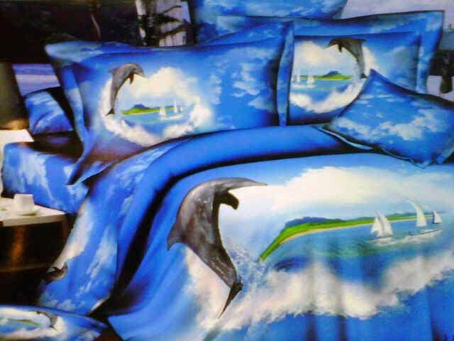 Sprei Jepang Panel Motif Dolphin