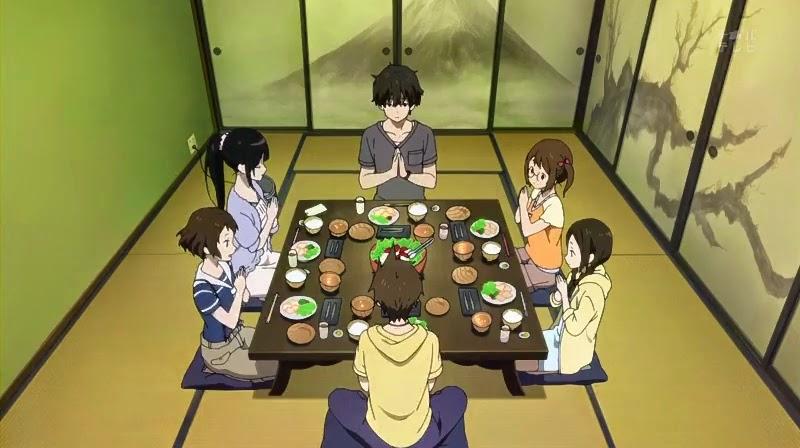 Hasil gambar untuk makan bersama di rumah anime