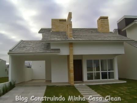 Construindo minha casa clean 20 fachadas de casas for Fachadas pequenas