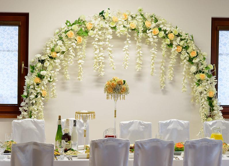 vestuvių salės puošyba