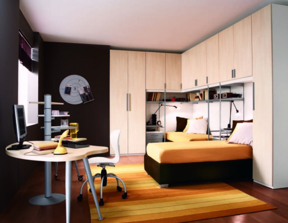 Modern Bedroom Ideas for Teenage Boys 582 x 450