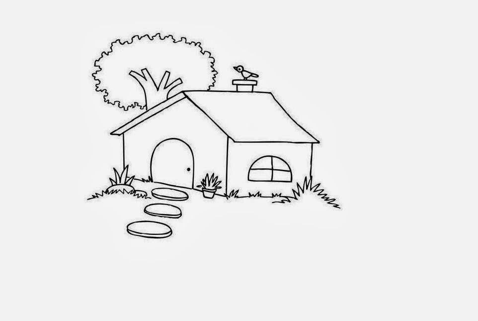 Beautiful Kids House Coloring Colour Drawing HD Wallpaper