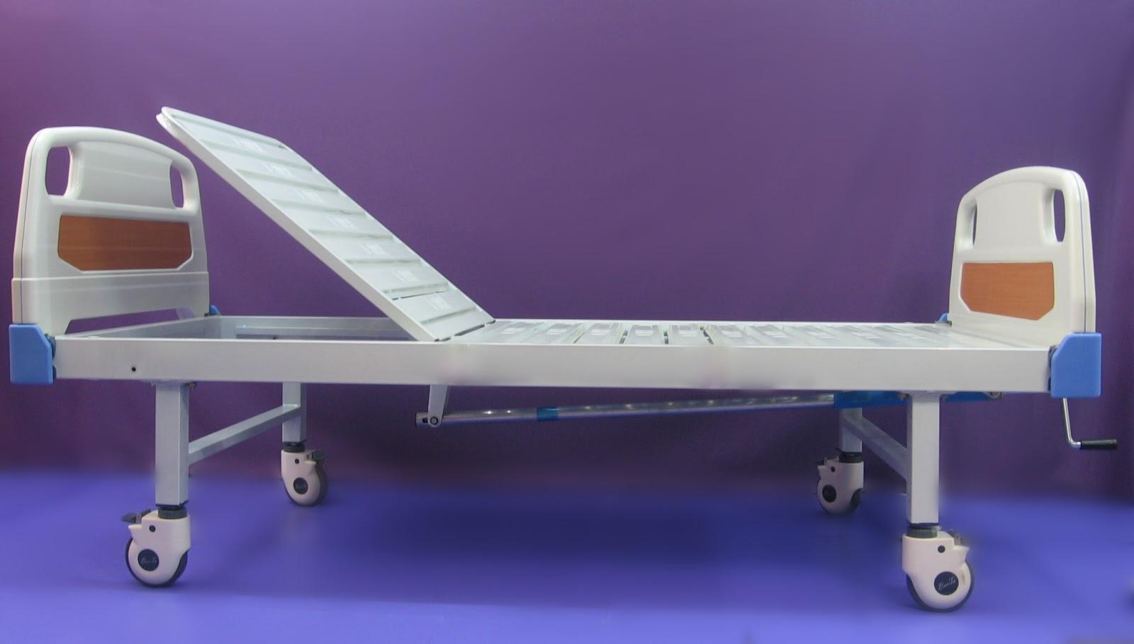 11. ABS nursing bed manual single fowler手动單搖床 家居護理床 ABS床頭床尾板.