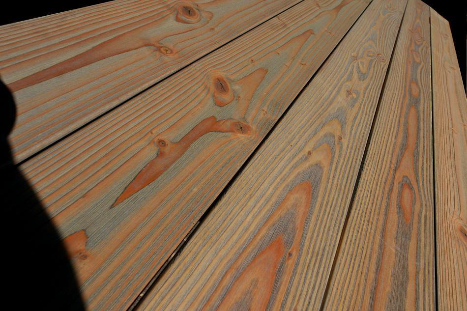 Holzterrassen douglasie ge lt for Boden eiche geolt