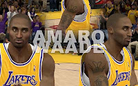 NBA2K12 LA Lakers Cyberface Patches Kobe Bryant
