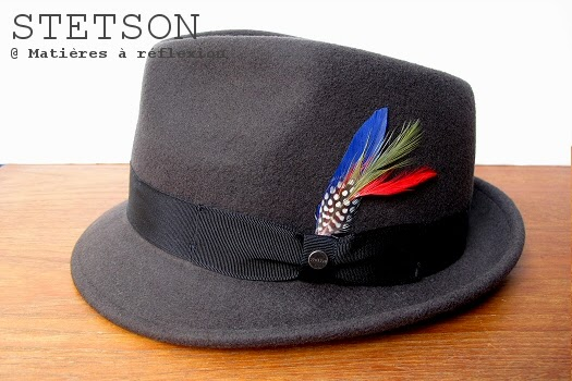 Chapeau homme Stetson petit bord en feutre taupe
