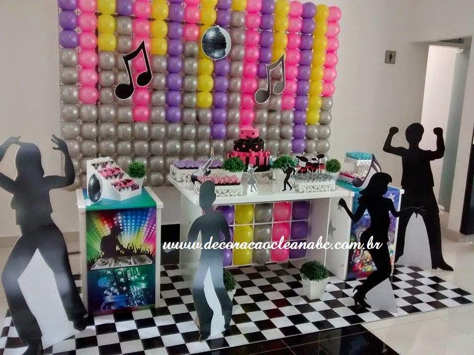 decoracao festa balada infantil:de festa Tema Balada, Decoração Clean Música, Festa Música, Festa