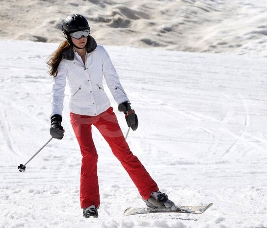 William and and Kate Ski in France with the Middletons