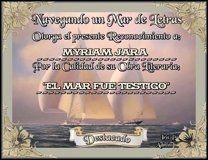 """""""EL MAR FUE TESTIGO"""""""