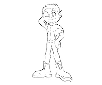 #4 Beast Boy Coloring Page