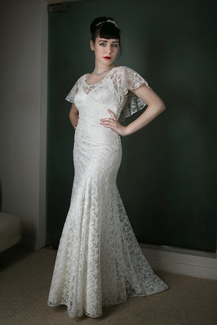 "1930s Vintage Wedding Dress ""ANGEL"" by Heavenly Vintage Brides - slinky lace bodice"
