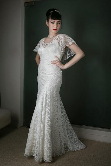 "1930s Vintage Wedding Dress ""ANGEL"" by Heavenly Vintage Brides - slinky lace bodice"