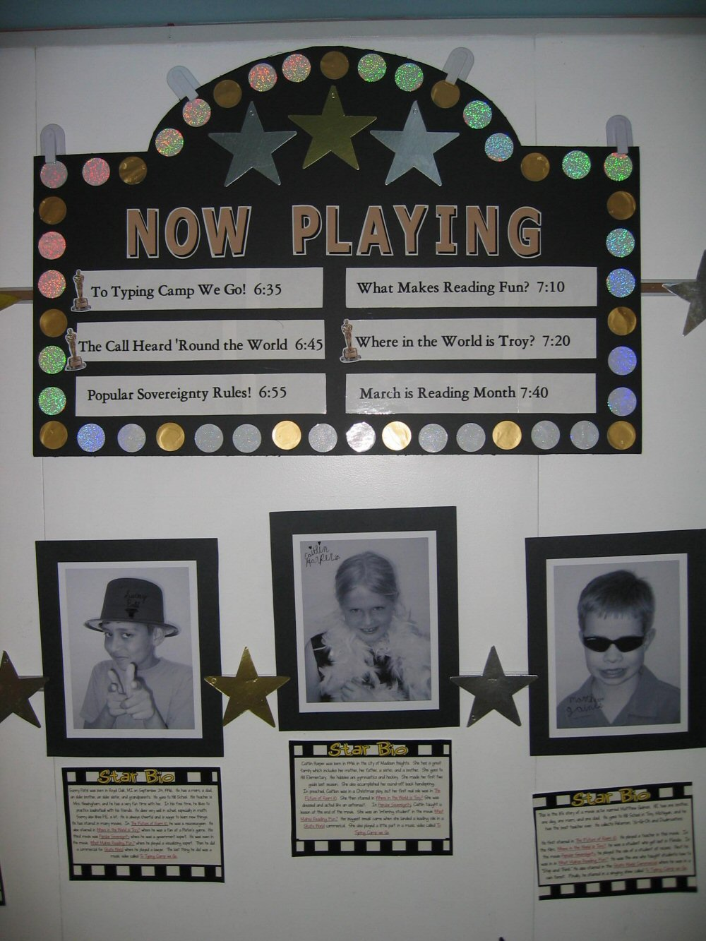 Hollywood Classroom Decor ~ Hollywood themed classroom photos and ideas edition