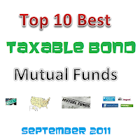 Top 10 Best Taxable Bond Mutual Funds of September 2011