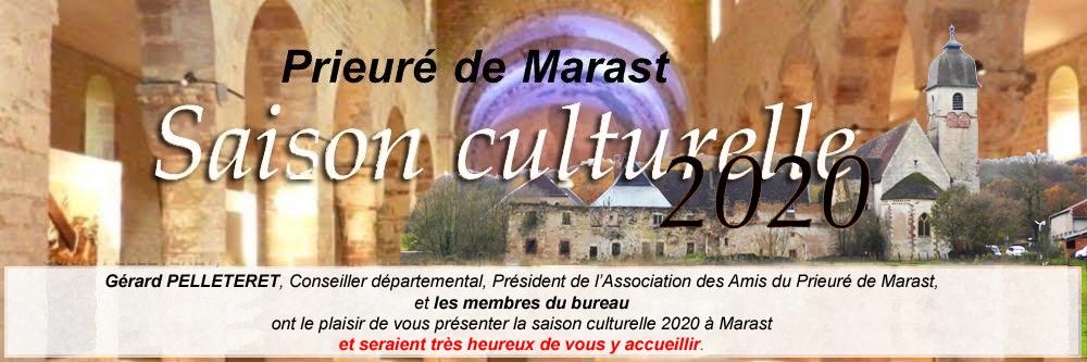 Prieuré de Marast : Saison culturelle 2020