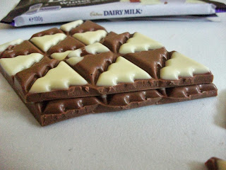 New limited edition milk and white chocolate Dairy Milk bar for Christmas with tree shaped chunks