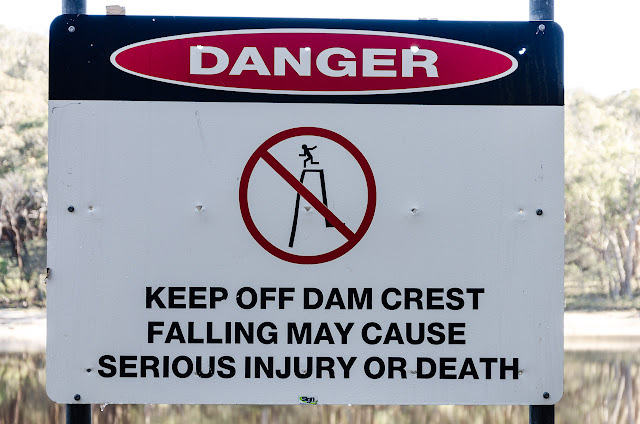 Langi Ghiran Reservoir danger sign