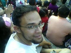 André curtindo o festival internacional de palhaços