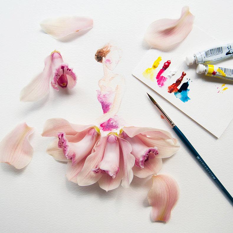 Fantástico arte floral por Limzy