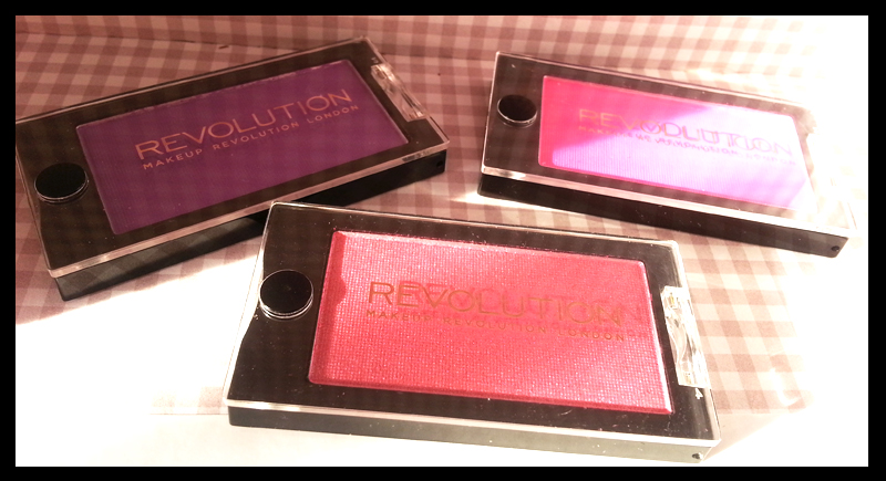 Makeup Revolution - Mono Eyeshadow in Candy Frosted, Scandalous Pink Is It, Scandalous Rave All Night
