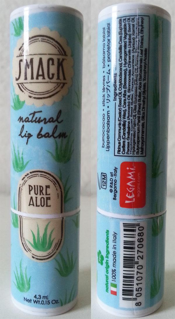 Legami - SMACK natural lip balm pure aloe