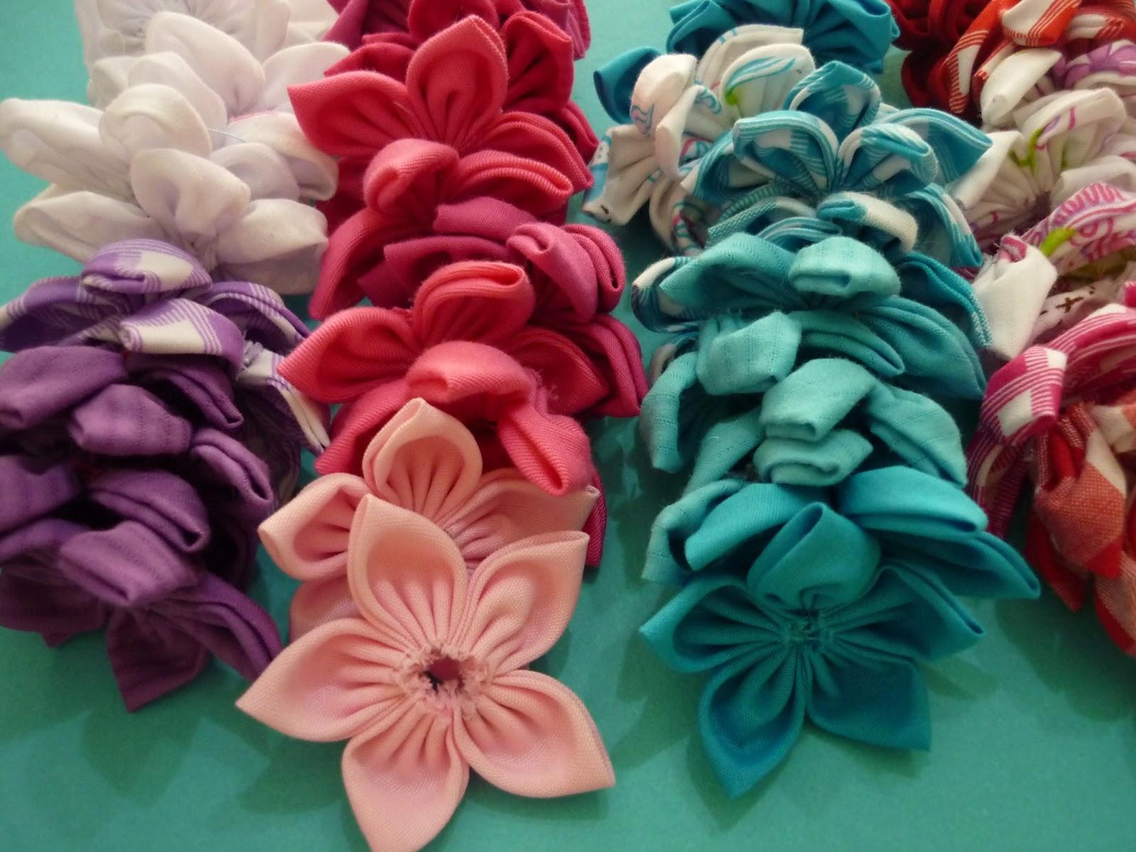 Materiales para manualidades flores en tela para decorar - Telas para decorar ...