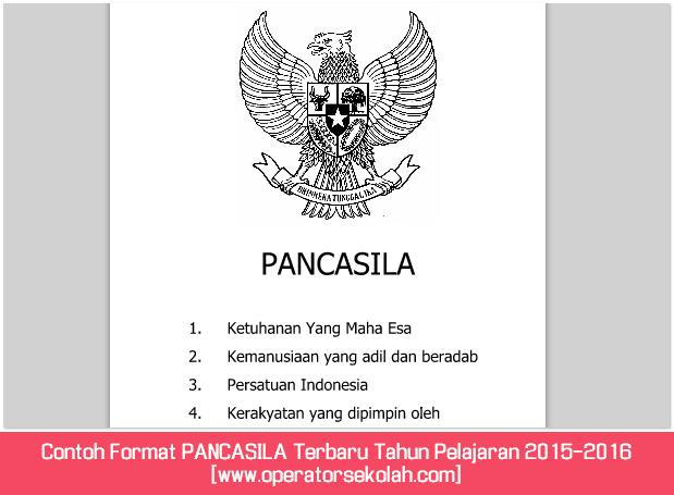 Contoh Format PANCASILA Terbaru Tahun Pelajaran 2015-2016 [www.operatorsekolah.com]