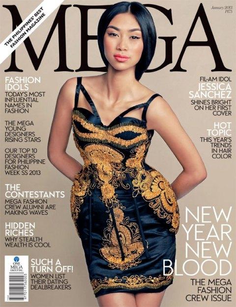 Jessica Sanchez Covers Mega Magazine January 2013 Issue