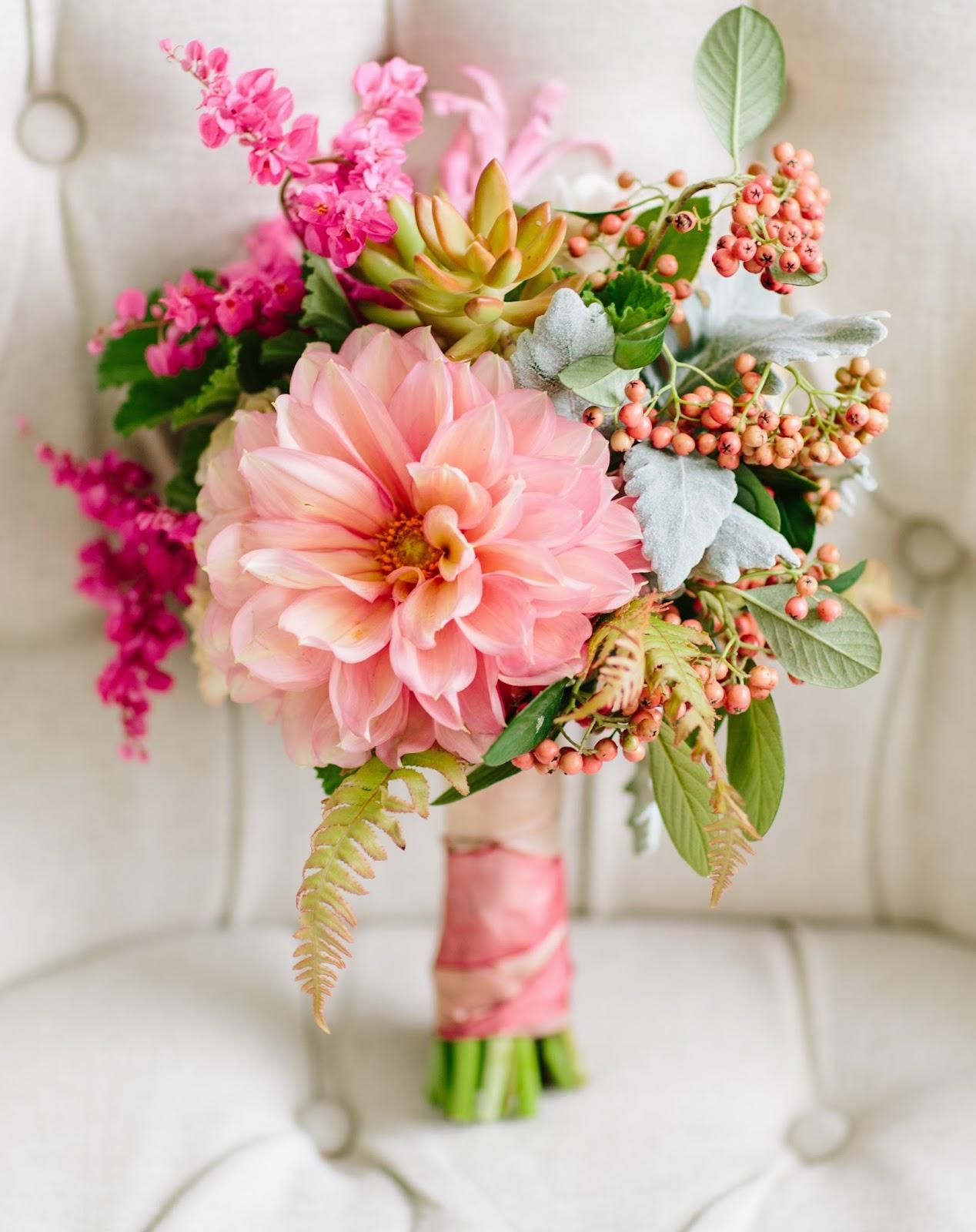 Ballinger Shaw Botanics Peach Pink Wedding Flowers