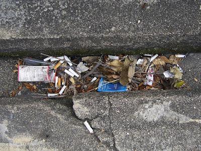 煙草のポイ捨て吸い殻