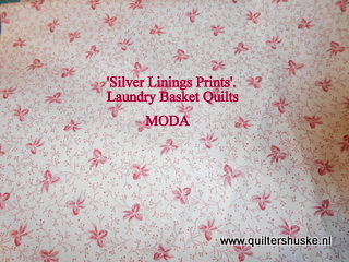'Silver Linnings Prints'Laundry Baskett Quiltd'.