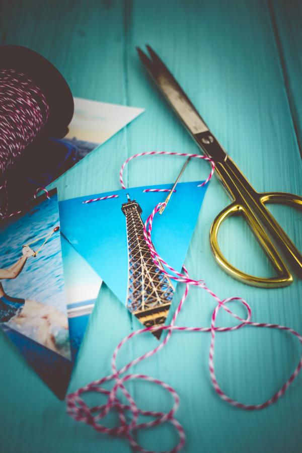 Anleitung: Wimpelkette aus Fotos zum Geburtstag