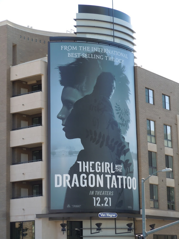 Giant Girl with the Dragon Tattoo billboard