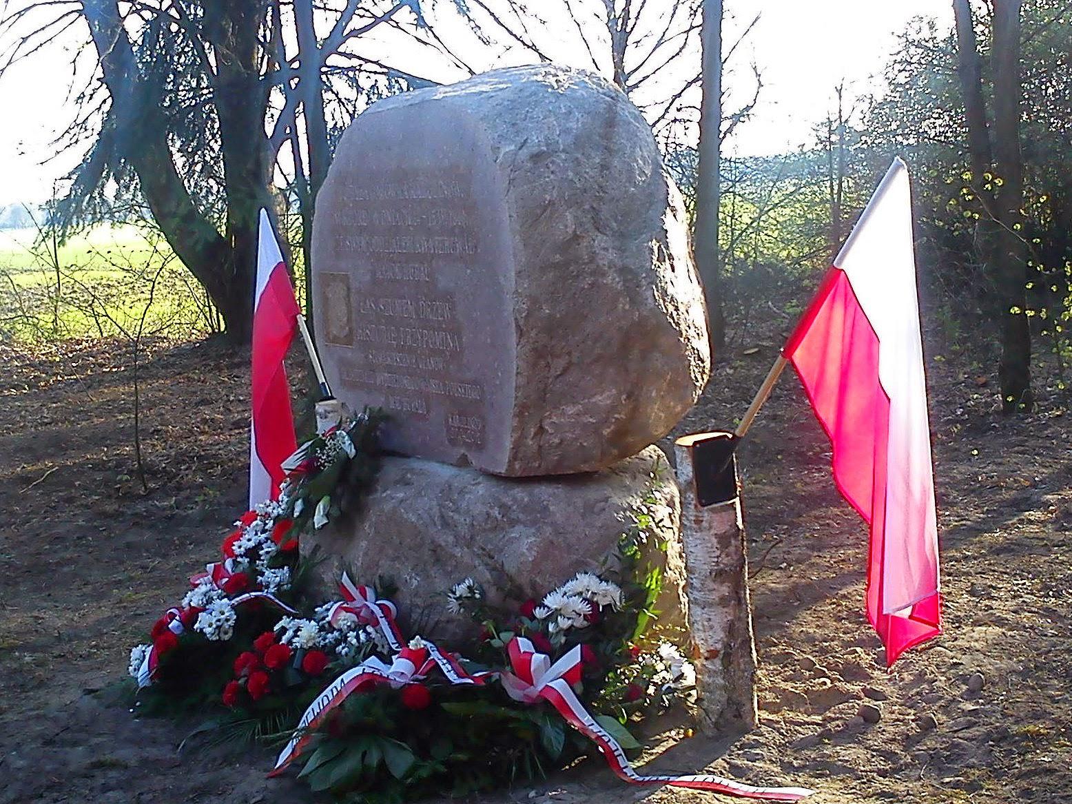 Nie jest to pierwszy pomnik jakim Stowarzyszenie Ułanów im. OWWP majora Hubala upamiętniło historię regionu: w 2012 roku w Karolinowie, w miejscu gdzie znajdowała się gajówka gajowego Michała Różańskiego.