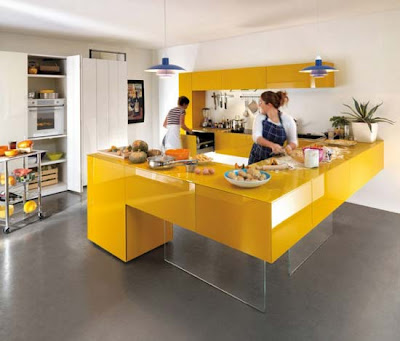 Top Yellow Kitchen Cabinets