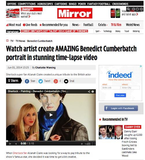 Allanah Claire Art - Sherlock - The Mirror
