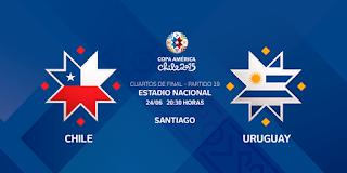 Ver Chile vs Uruguay en vivo | 24 junio del 2015 | Cuartos de Final | Copa América Online