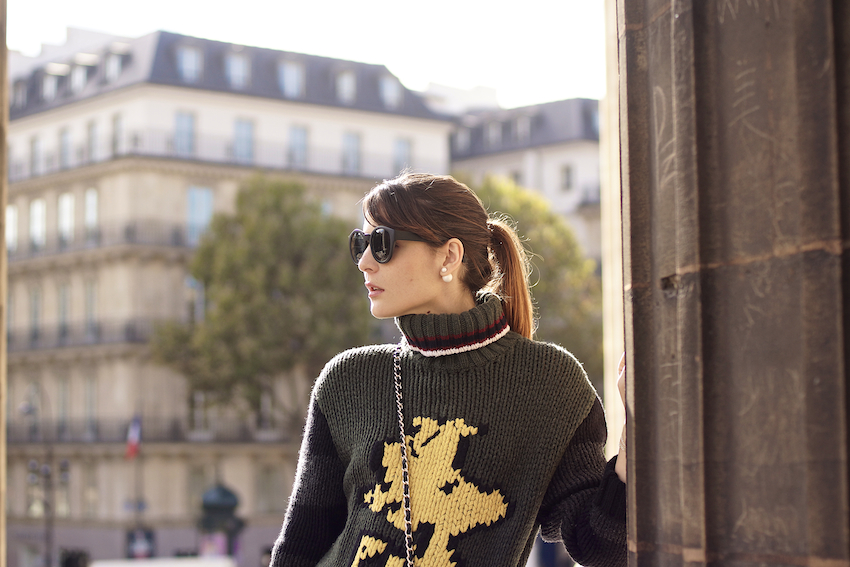 street style paris  fay sweater irene buffa