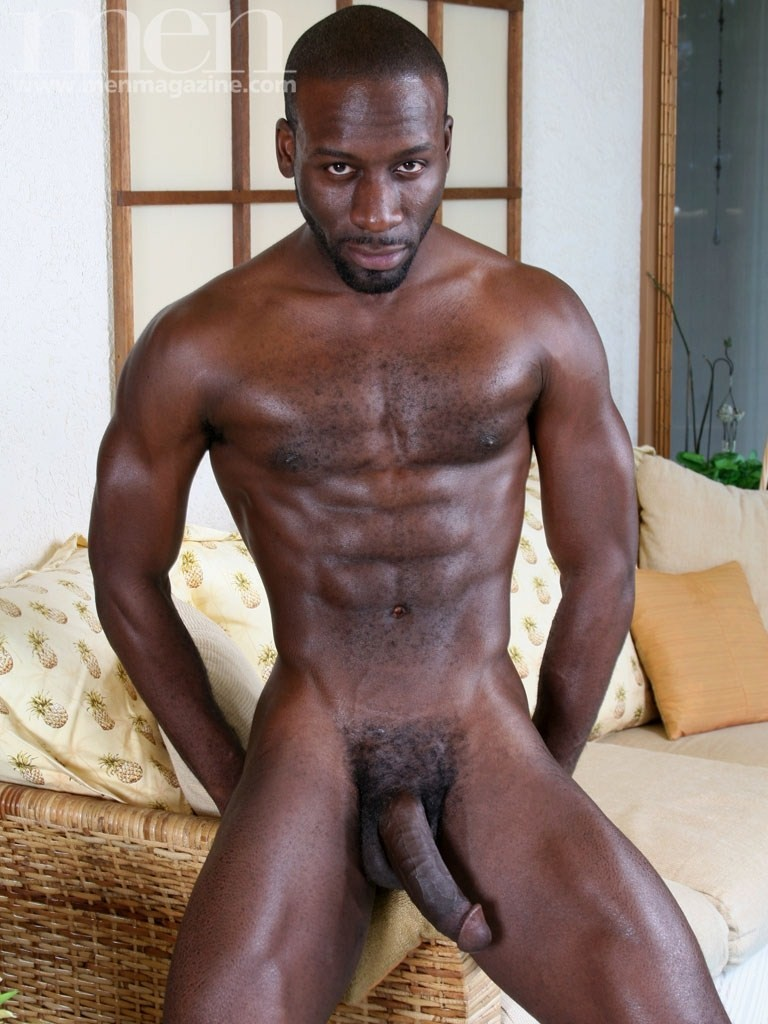 naked strong black mens