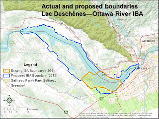 Image of boundaries in Lac Deschenes