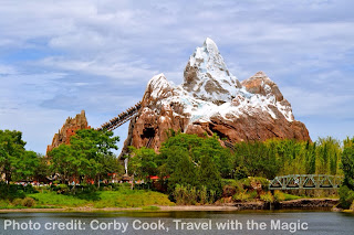 Expedition Everest, view from Flame Tree BBQ