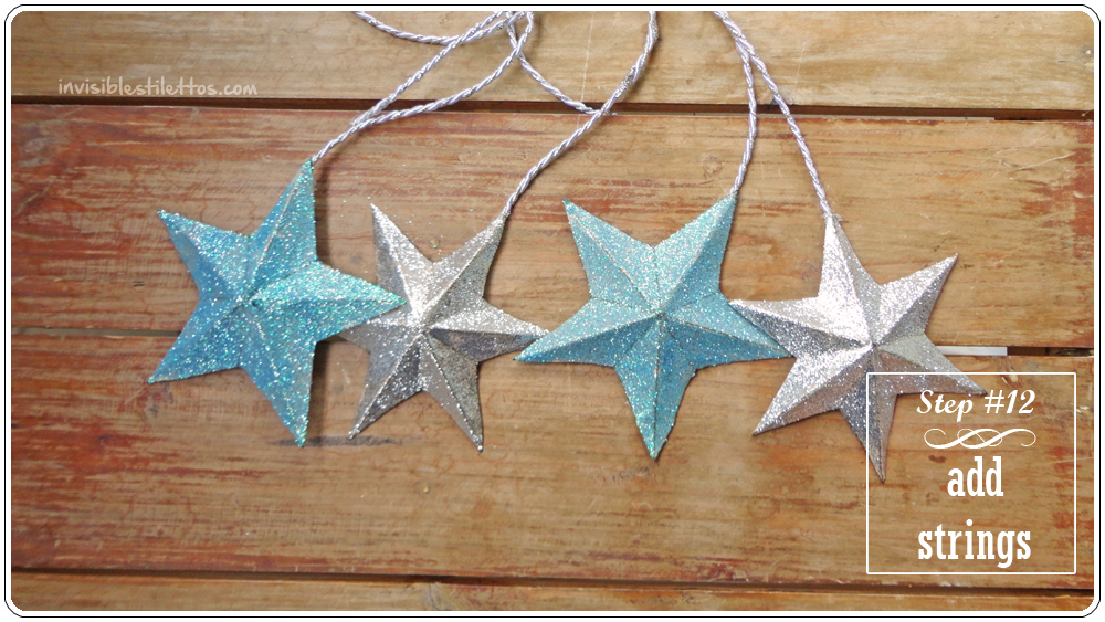 3D Glitter Stars