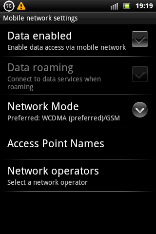 Xperia Mini Pro Data Traffic
