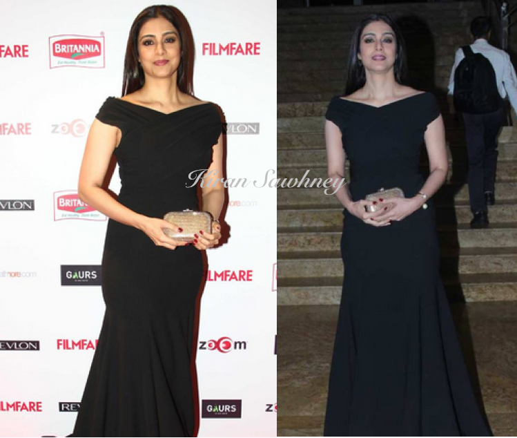 Tabu at Filmfare nominations party in Gauri and Nainika