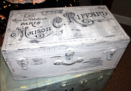 Painted French Trunk