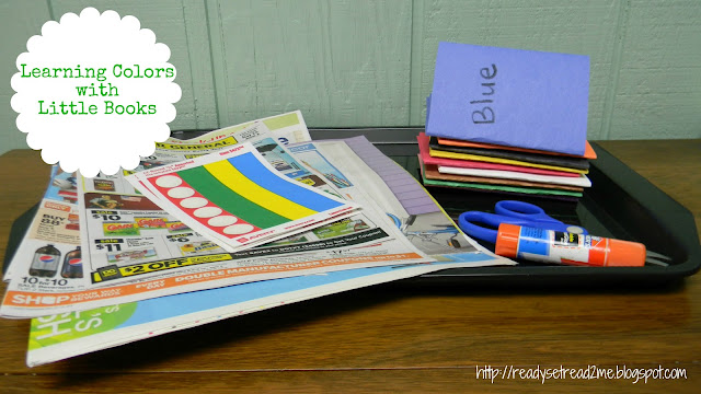 Teaching colors to preschoolers by making color books, foldable little books with no glue or tape or staples