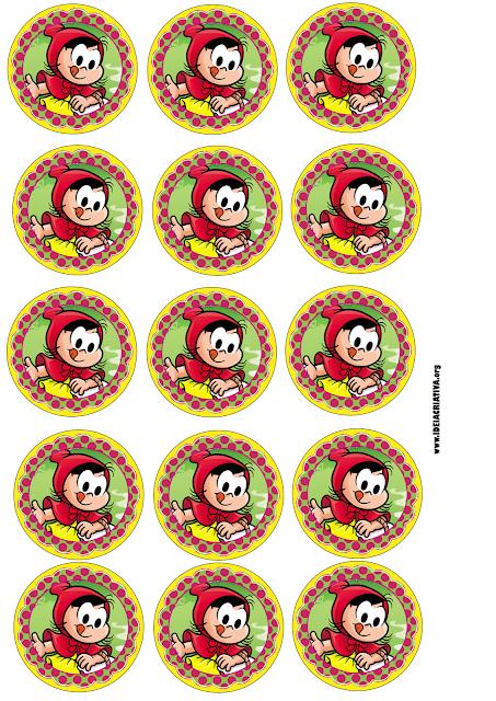 Pirulito Personalizado Chapeuzinho Vermelho com rótulo para imprimir grátis