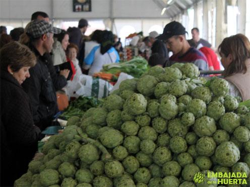 Montaña de alcachofas en las Jornadas Gastronómicas de la Verdura de Calahorra 2013