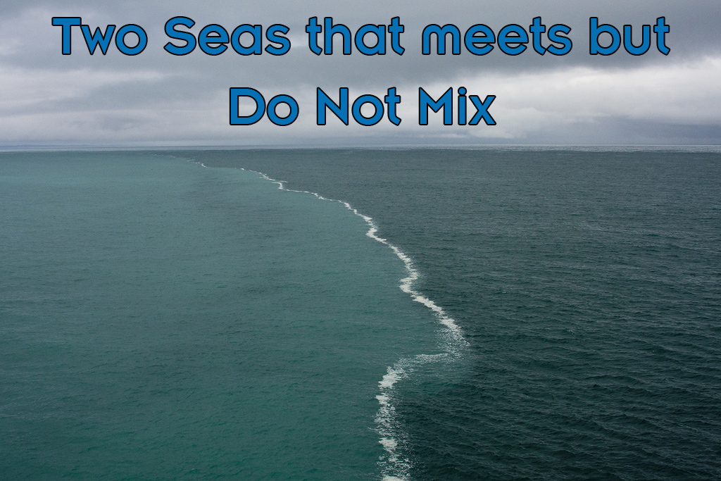 gulf of alaska two oceans meet in quran allah