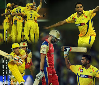 Chennai Super Kings defeat the Bangalore Royal Challengers